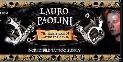 kit tatuagem/tattoo  c/ máquina lauro paolini completo