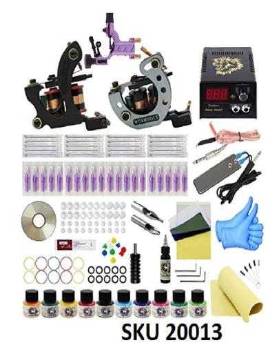 kit tatuaje  principiante 3 maquinas (1rotativa) f12 w01