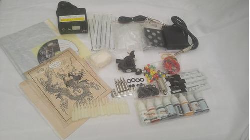 kit tatuaje profesiona 1 maquina tatuar tintas fuente a9 w01