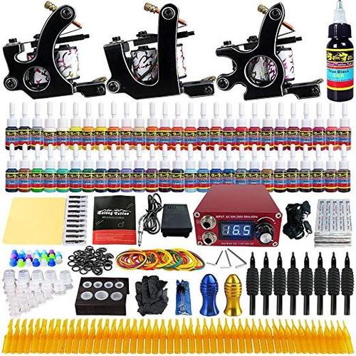 kit tatuaje profesional 3 maquina tatuar envio gratis n2 w01