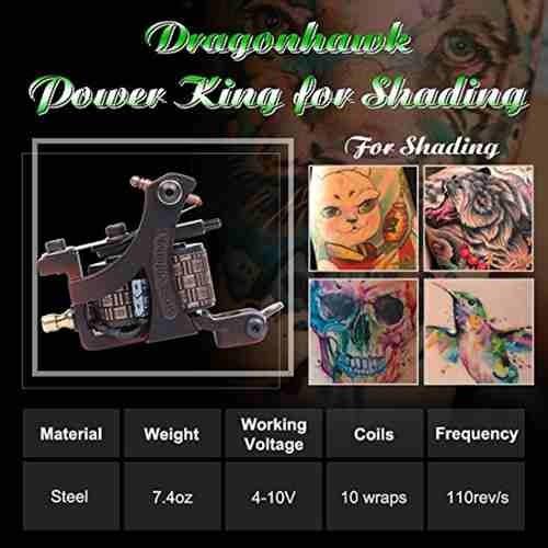 kit tatuaje profesional 3 maquinas tatuar f2 (1rotativa) w01