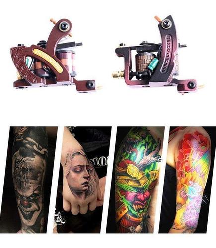 kit tatuaje tatuar tattoo con 2 maquinas pigmentoprofesional
