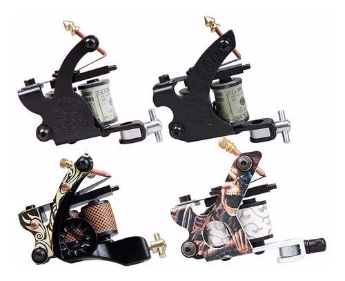 kit tatuajes tatuar 12 maquinas (3rotativa) + maleta g1 w01