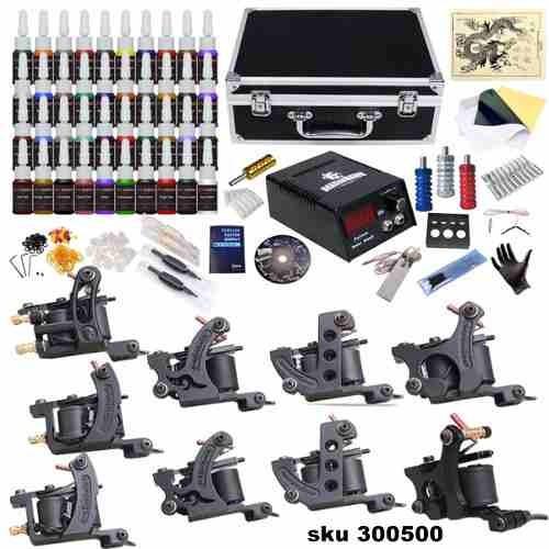 kit tatuajes tatuar 9 maquinas + 40 tintas + maleta g2 w01