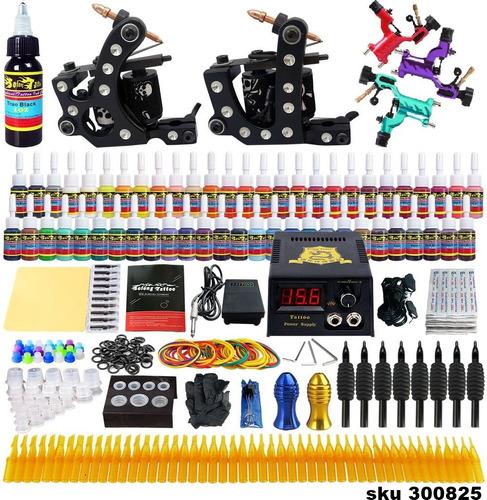 kit tatuar gama alta 5 maquinas (3rotativa) 54 tintas f0 w01
