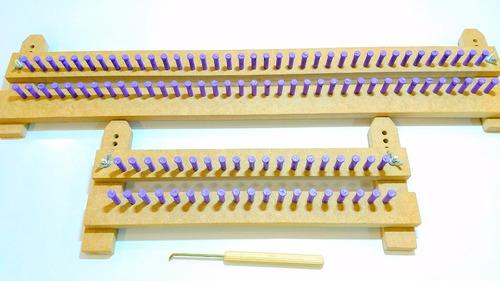 kit tear de pino plástico regulável 50 cm e 25 cm + agulha