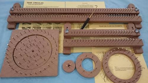 kit tear manual de prego + 02 lãs + 10m de linha encerada