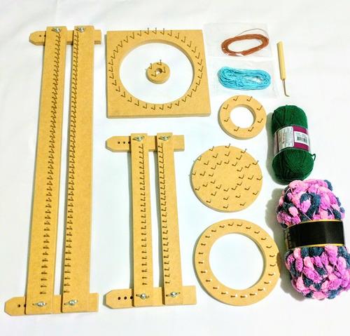 kit tear manual de prego + lãs + agulha (12 pç)