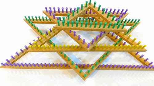 kit tear triângulo pino plástico 05 peças + agulha gancho