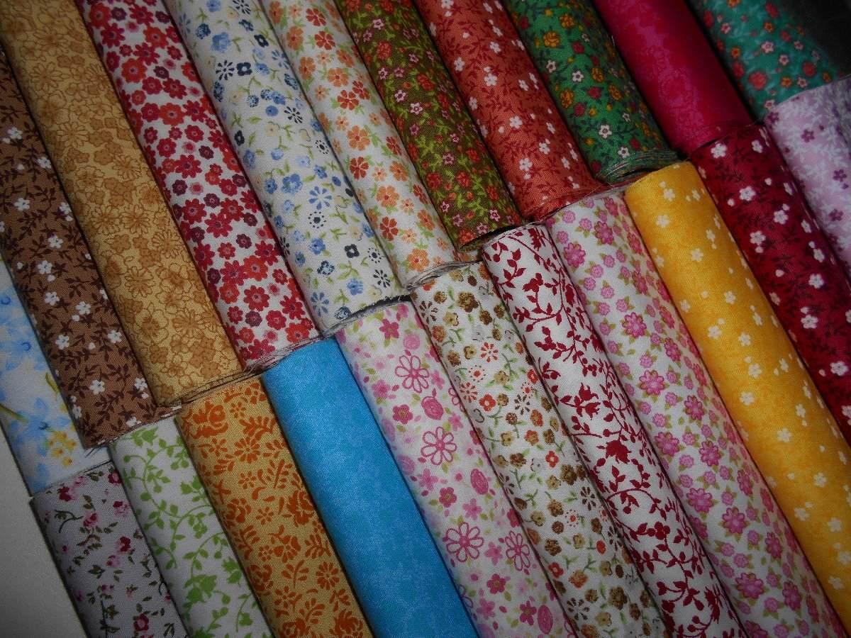 e6aef73fbb kit tecido tricoline floral mini - 22 cortes 35x50cm k22cx. Carregando zoom.