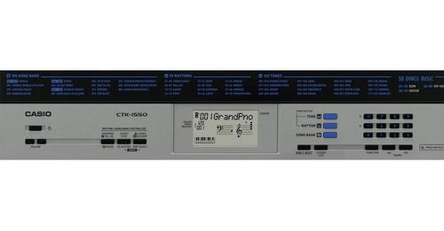 kit teclado arranjador 5/8 ctk 1550 com capa casio preta