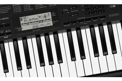kit teclado arranjador 5/8 ctk 3500 com capa casio preta