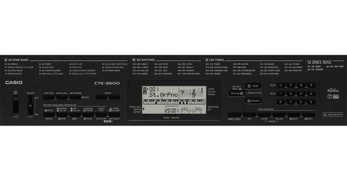 kit teclado arranjador 5/8 ctk 3500 com capa casio rosa