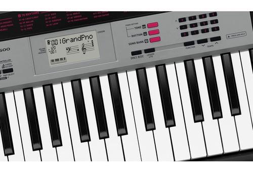 kit teclado arranjador 5/8 ctk1500 com capa casio rosa
