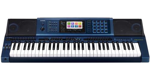 kit teclado arranjador 61 teclas 16 pads mz-x500 casio pedal