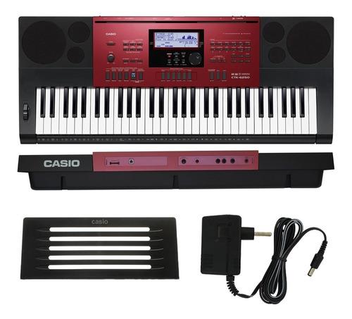 kit teclado arranjador 61 teclas ctk-6250 casio x10 + pedal