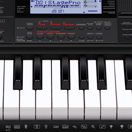 kit teclado arranjador 61 teclas ctx-800 casio + acessórios