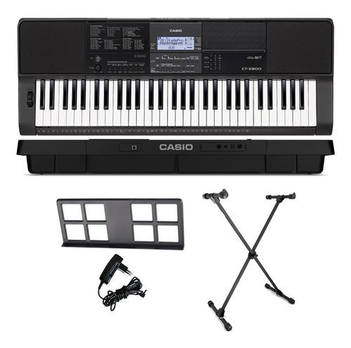 kit teclado arranjador musical 61 teclas ctx800 casio + x10s