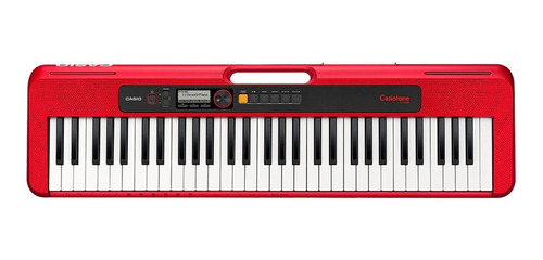 kit teclado casio ct-s200 musical usb 61 vermelho x10 pedal