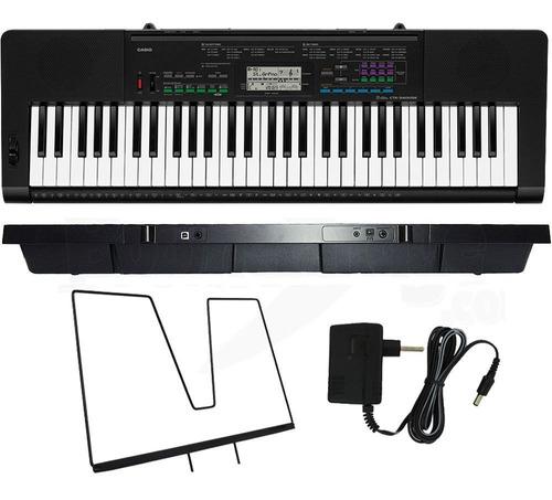 kit teclado casio ctk-3400 arranjador musical 5/8 camuflado