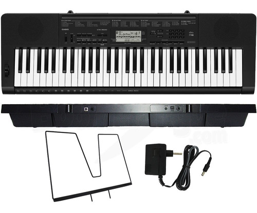 kit teclado casio ctk-3500 digital musical 61 teclas + capa