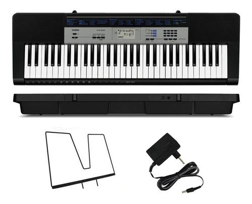 kit teclado casio ctk1550 arranjador 5/8 completo camuflado