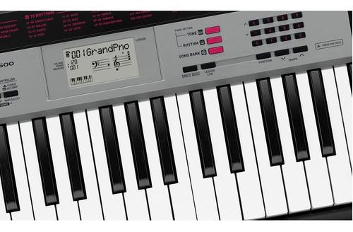 kit teclado casio musical 5/8 ctk1500 com capa preta