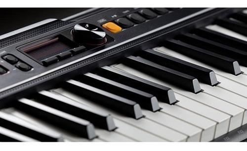kit teclado casio tone ct-s200 musical 61 teclas com pedal