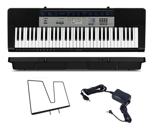 kit teclado digital arranjador 61 ctk-1550 casio com capa