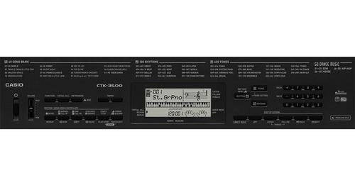 kit teclado digital arranjador 61 ctk-3500 casio com suporte