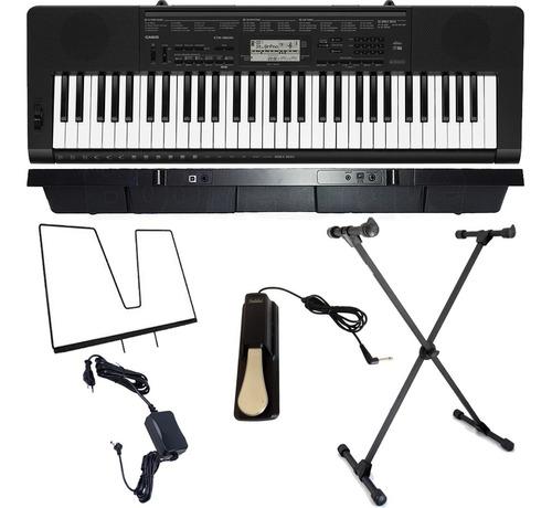 kit teclado digital arranjador 61 ctk-3500 casio x10s pedal