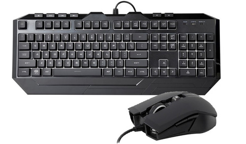 kit teclado e mouse devastator 3 led 7 cores - cooler master