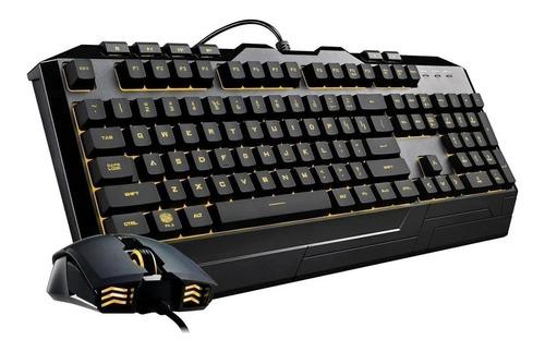 kit teclado e mouse gamer cooler master devastator 3 rgb