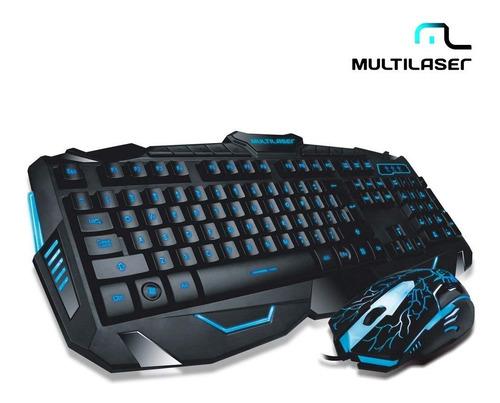 kit teclado e mouse gamer led multilaser lightning tc195 pc