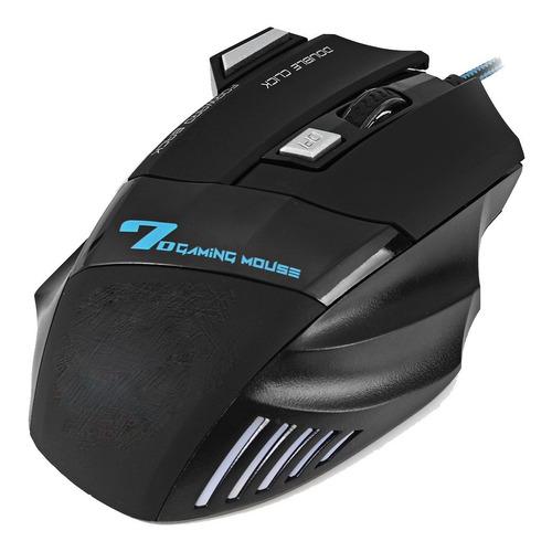 kit teclado gamer semi mecânico luz rgb mouse 2400dpi pc ps4