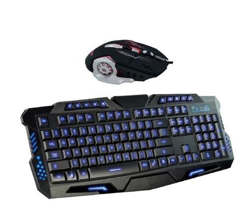 kit teclado + mouse gamer luz led usb retroiluminado kl112