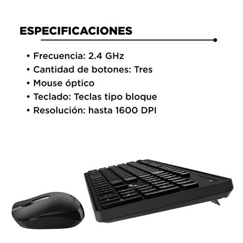 kit teclado mouse inalambrico genius kb 8006 smart pc