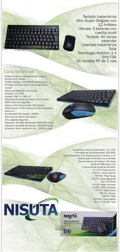 kit teclado mouse inalambrico mini nisuta ns-w167co smart tv