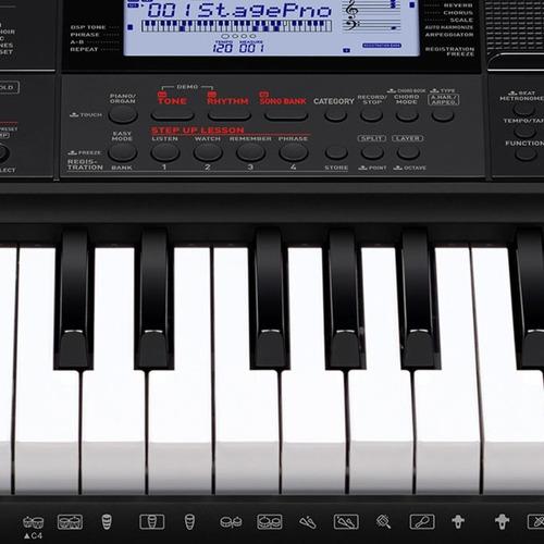 kit teclado musical 5/8 ctx800 casio completo + pendrive