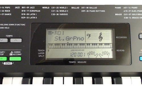 kit teclado musical 61 teclas ctk-3400 casio x10 + pedal