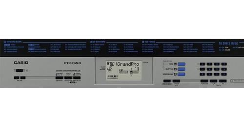 kit teclado musical 61t 5/8 ctk-1550 casio completo f grátis