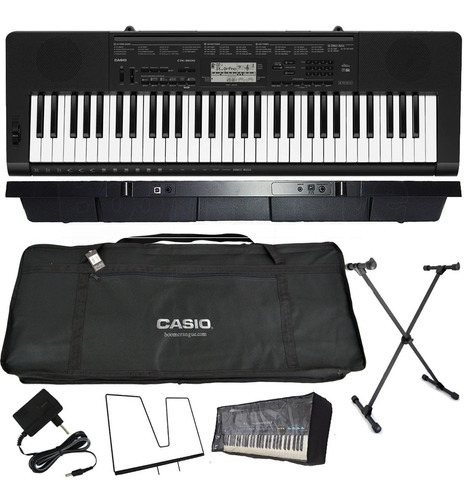 kit teclado musical sensitivas ctk-3500 casio completo