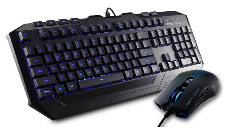 Kit Teclado Y Mouse Cooler Master Devastator Gaming Azul