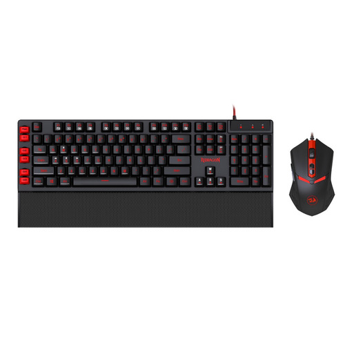 kit teclado y mouse gamer pc redragon s102 yaksa + nemealion