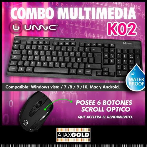 kit teclado y mouse inalambrico kolke pc tv wirelees