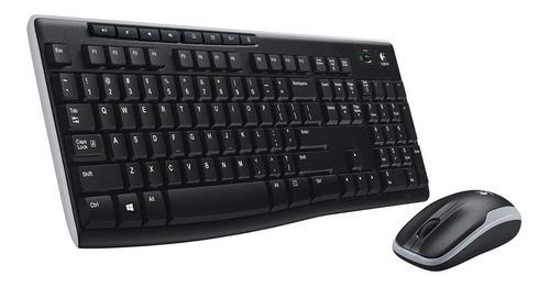 kit teclado y mouse logitech mk270 inalámbrico multimedia