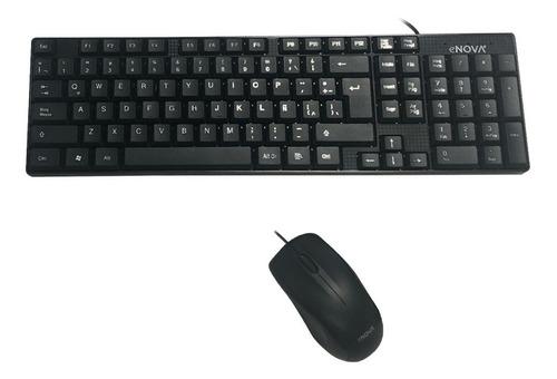 kit teclado y mouse usb con cable novatech