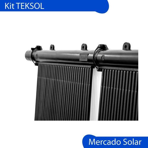kit teksol climatización solar de piscinas completo p/ 12m2