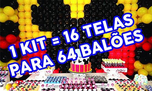 kit tela mágica pds painel de balões bexigas bolas festas