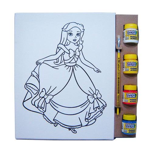 kit tela p - princesa - kits for kids